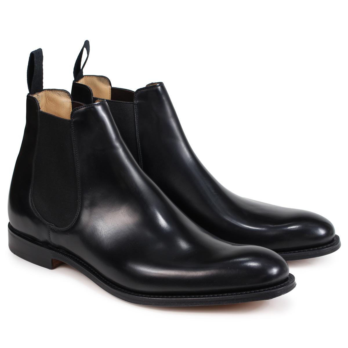 Churchs HOUSTON CHELSEA BOOTS POLISHED BINDER チャーチ 靴 ヒューストン ブーツ サイドゴア ショートブーツ メンズ ETB004 ブラック