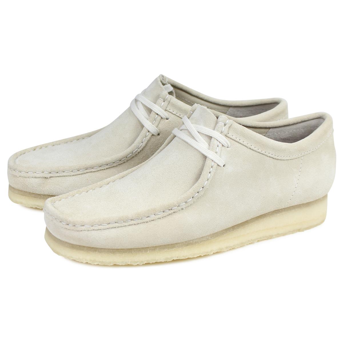 Clarks WALLABEE クラークス ワラビー ブーツ メンズ レディース スエード オフ ホワイト 26139174