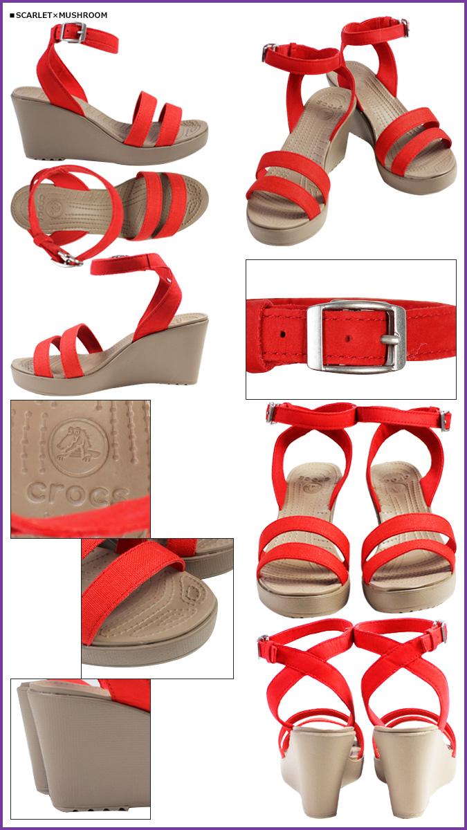 鱷魚鱷魚婦女 REI 楔形涼鞋婦女 LEIGH WEDGE 橫光楔鞋底鞋後跟 11382 6 色戶外