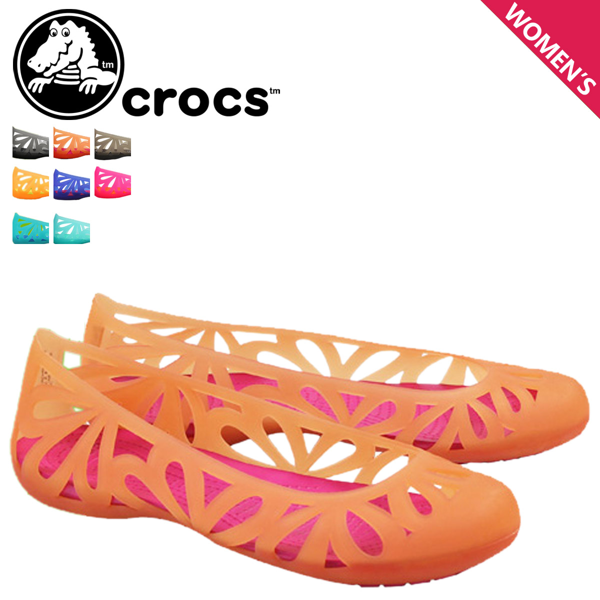1aa8203699f Crocs Crocs Womens adrina 3 flat Sandals ADRINA 3 FLAT cross light pumps  flat shoes 14