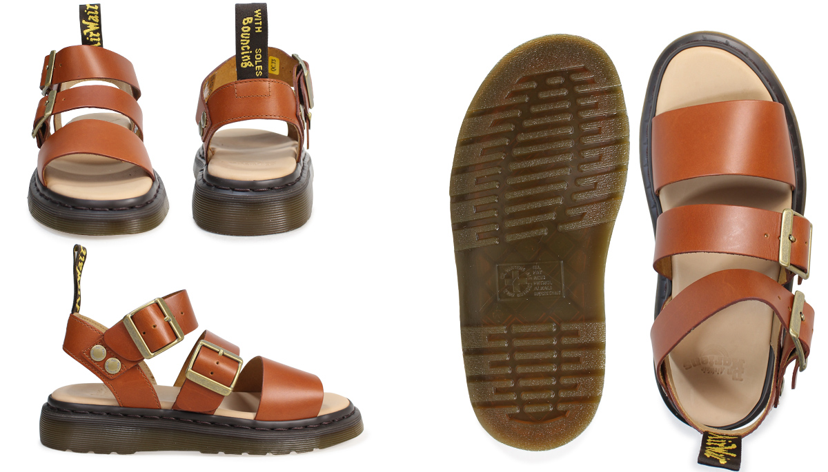 9fe9d4108859 Doctor Martin sandals men gap Dis Dr.Martens GRYPHON STRAP SANDAL OAK  ANALINE 20372228 oak  4 3 Shinnyu load
