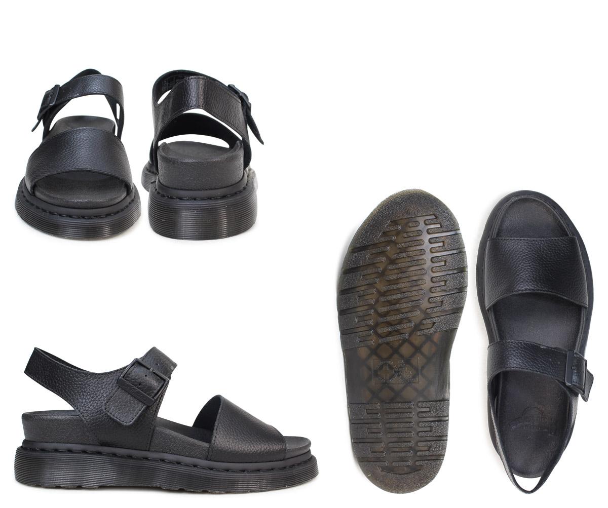Doctor Martin sandals Lady s men Dr.Martens leather ROMI PEBBLE 22095001  black  3 29 Shinnyu load  ce029a7f4f17