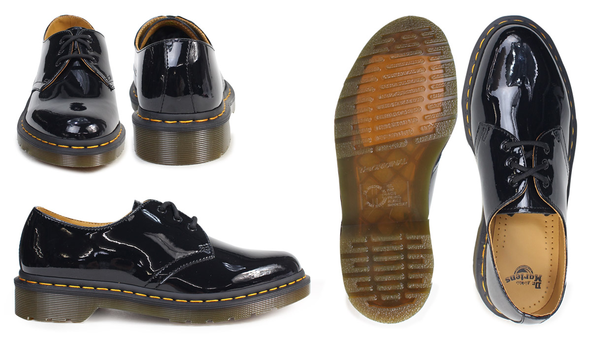 63e75174060 Dr.Martens 3 hall 1461 Lady's doctor Martin Oxford shoes WOMENS 3EYE SHOE  R10084001 black men