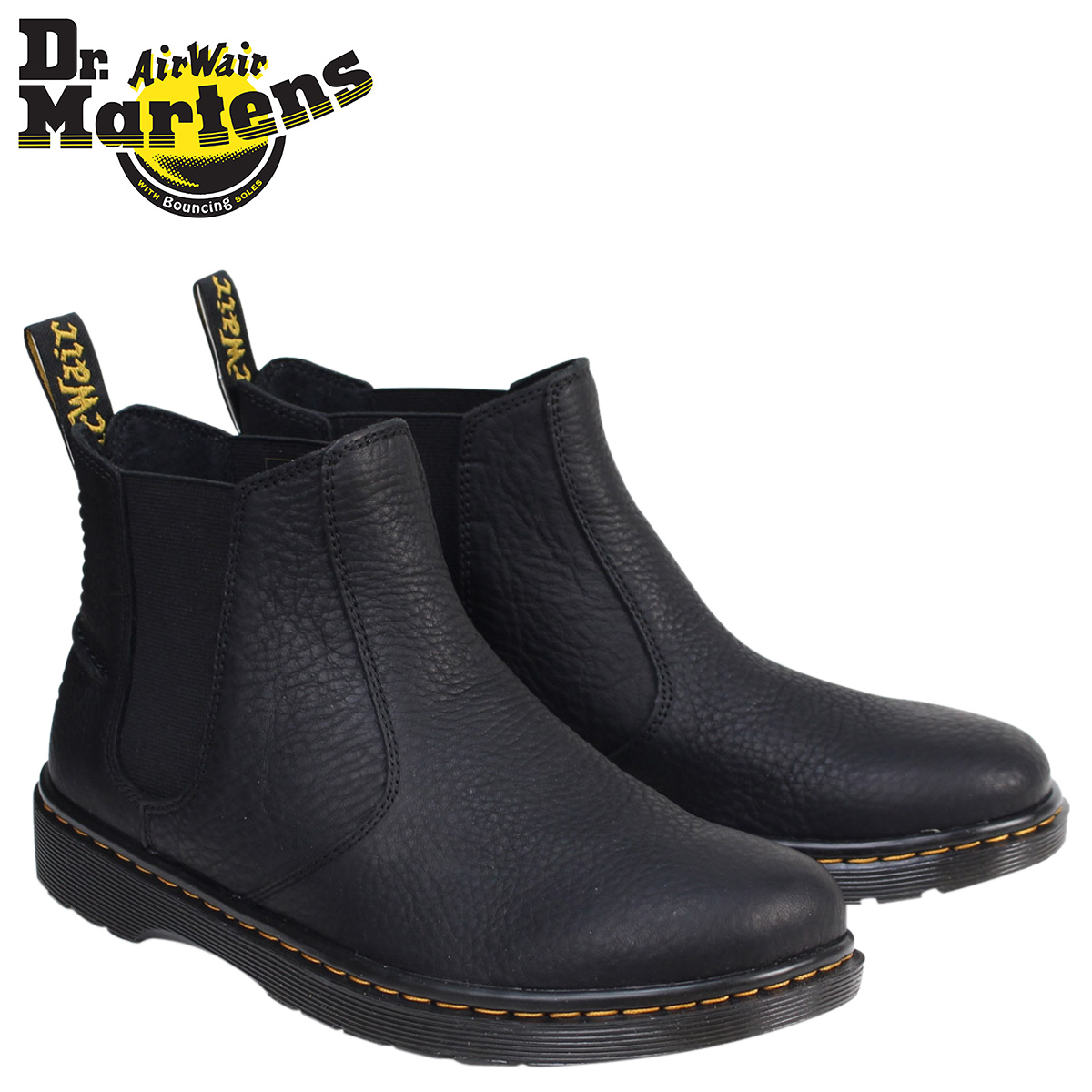 185d22d8a7e Doctor Martin side Gore men Dr.Martens boots Chelsea boot LYME GRIZZLY  CHELSEA BOOT R20868001 black [8/2 Shinnyu load]
