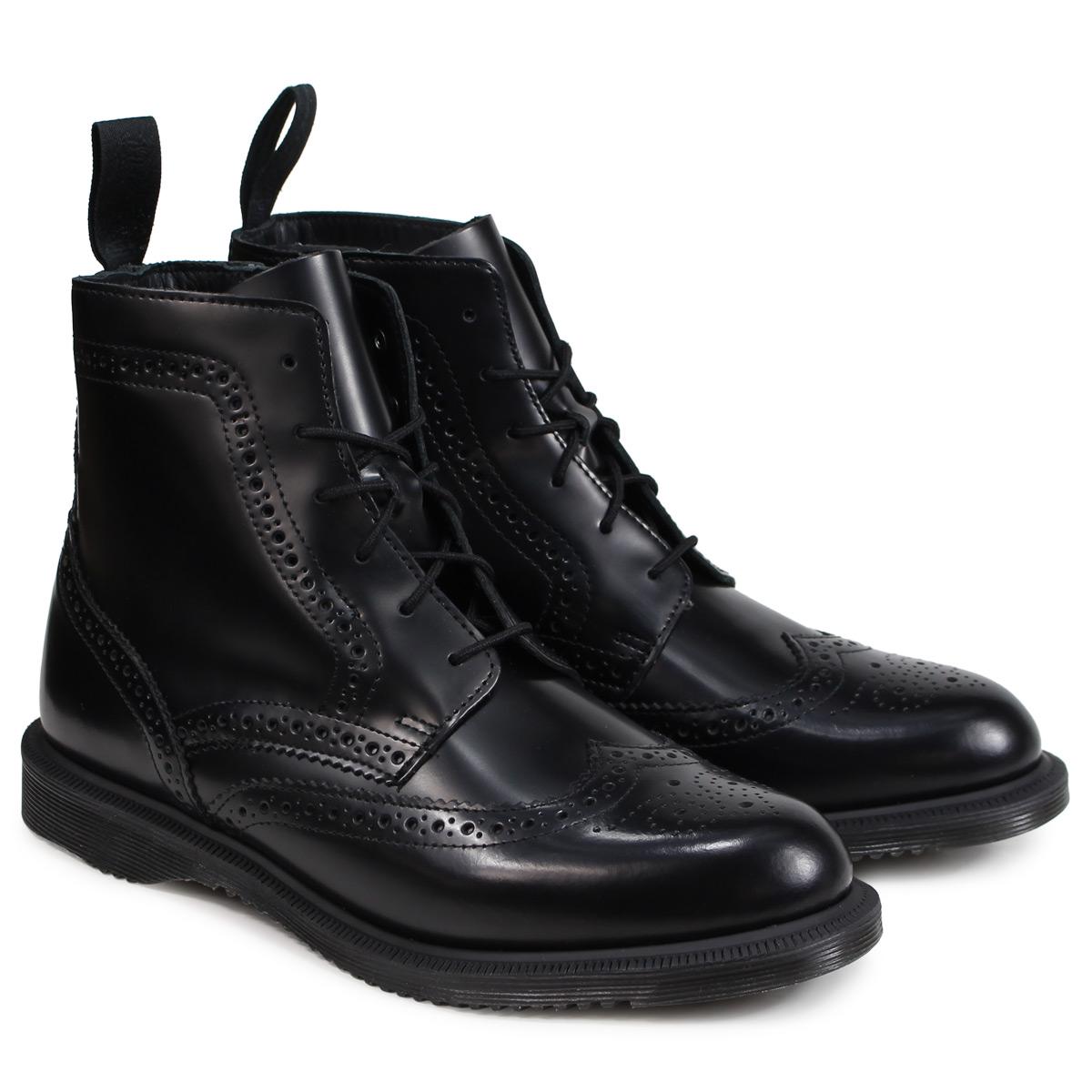 Dr.Martens DELPHINE 8EYE BROGUE BOOT ドクターマーチン 6ホール ブーツ レディース メンズ ブラック R22650001