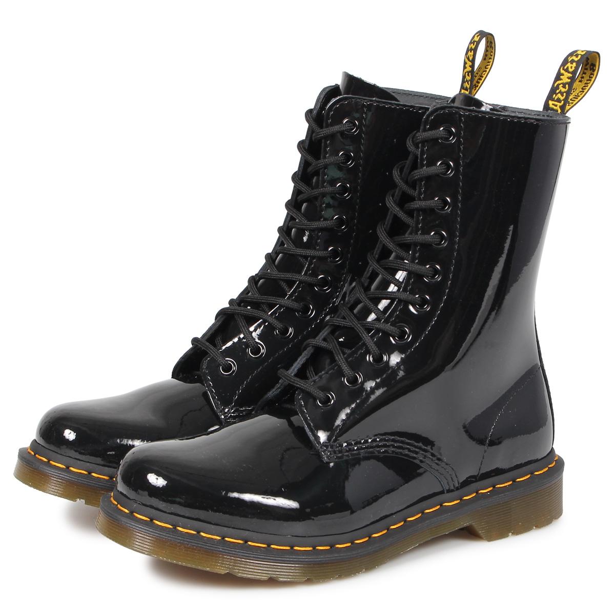 Dr.Martens 1490 W PATENT LAMPER 10EYE BOOT ドクターマーチン 10ホール ブーツ メンズ レディース ブラック 黒 R25277001