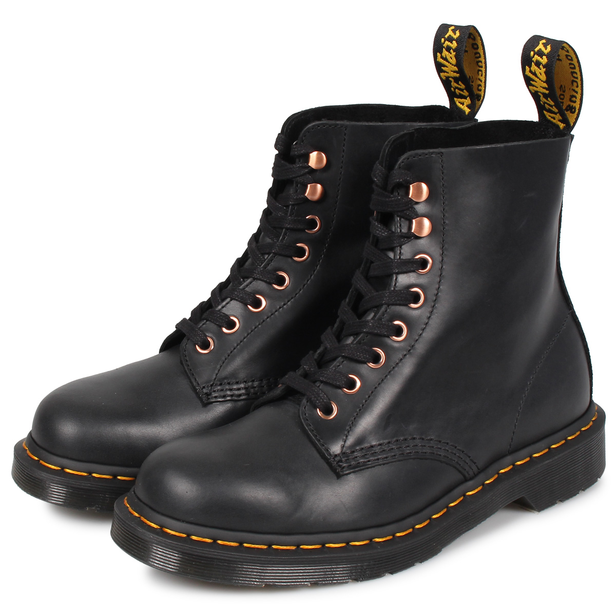 Dr.Martens 1460 PASCAL 8EYE BOOT doctor Martin 8 hall boots men gap Dis black black R25359001