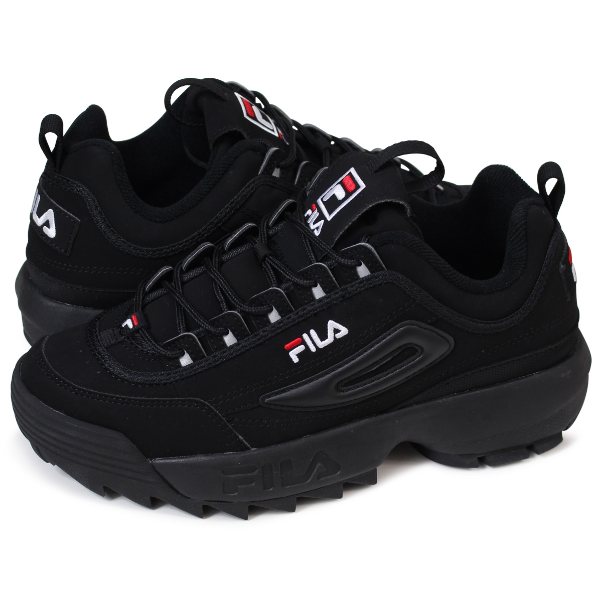 1de2bdcc660c FILA DISRUPTOR 2 フィラディスラプター 2 sneakers Lady s men black FS1HTA1078X  load  planned Shinnyu load in reservation product 5 11 containing