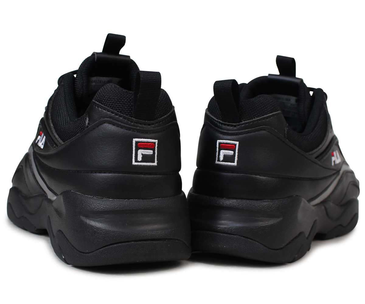 FILA FOLDER FILARAY Fila Fila lei sneakers Lady's folder collaboration black FLFL8A1U13 FS1SIA1241X BLK [load planned Shinnyu load in reservation