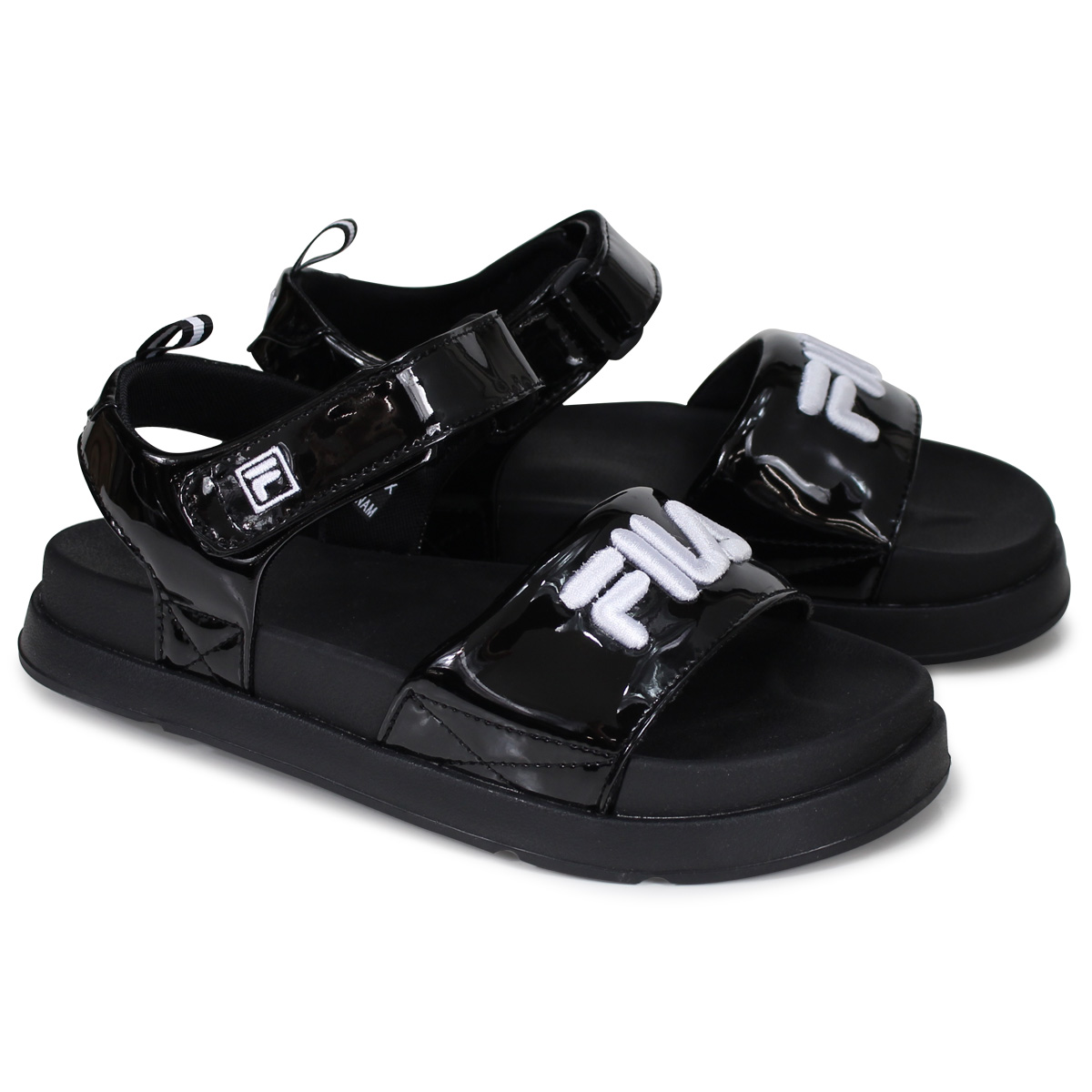29e878ab36 FILA DRIFTER JACKED UP SD SHINY Fila drifter sandals Lady's black  FS1SPA2024X [load planned Shinnyu load in reservation product 7/12  containing]