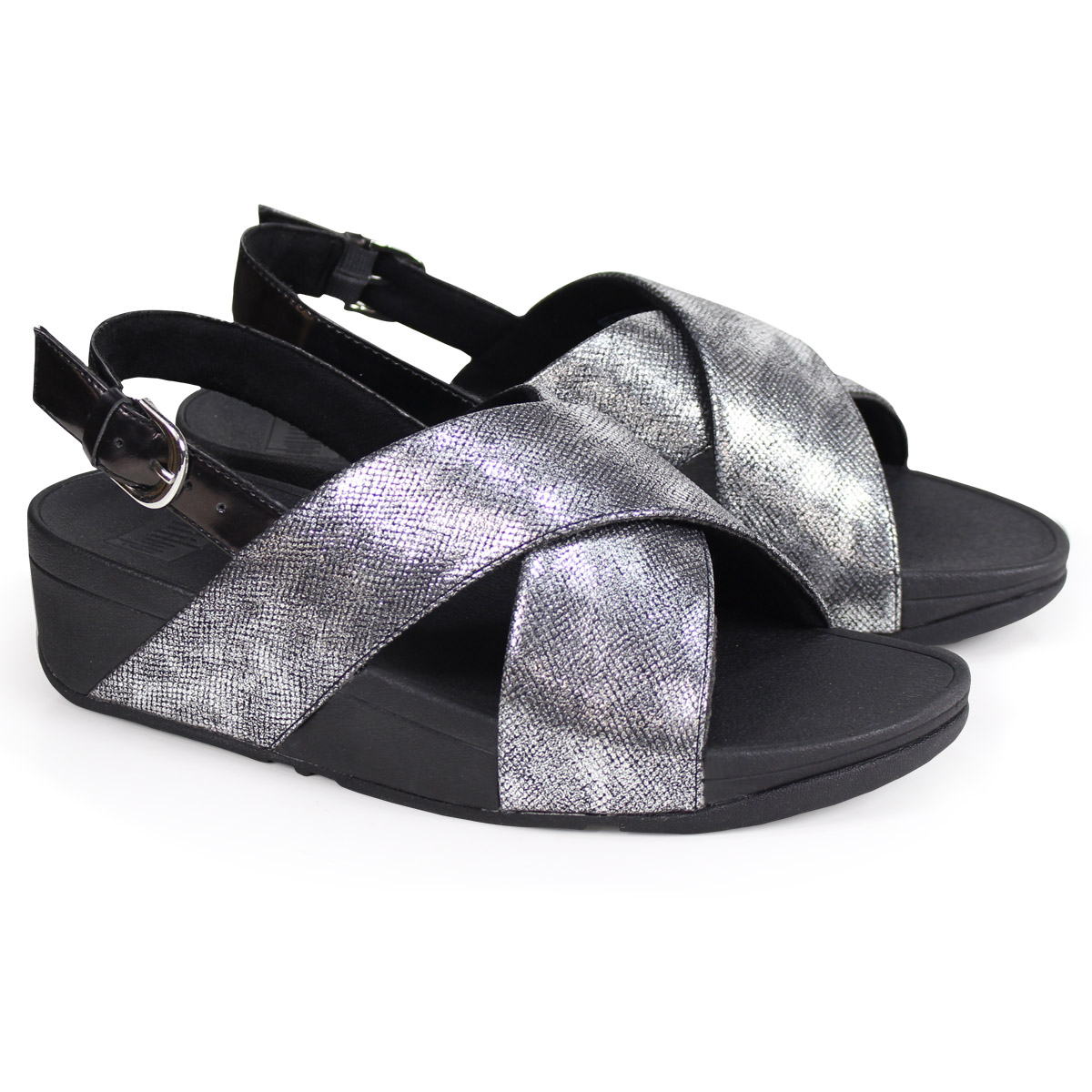 1dbb3e147d8a Whats up Sports  FitFlop LULU CROSS BACK-STRAP SANDALS SHIMMER-PRINT ...