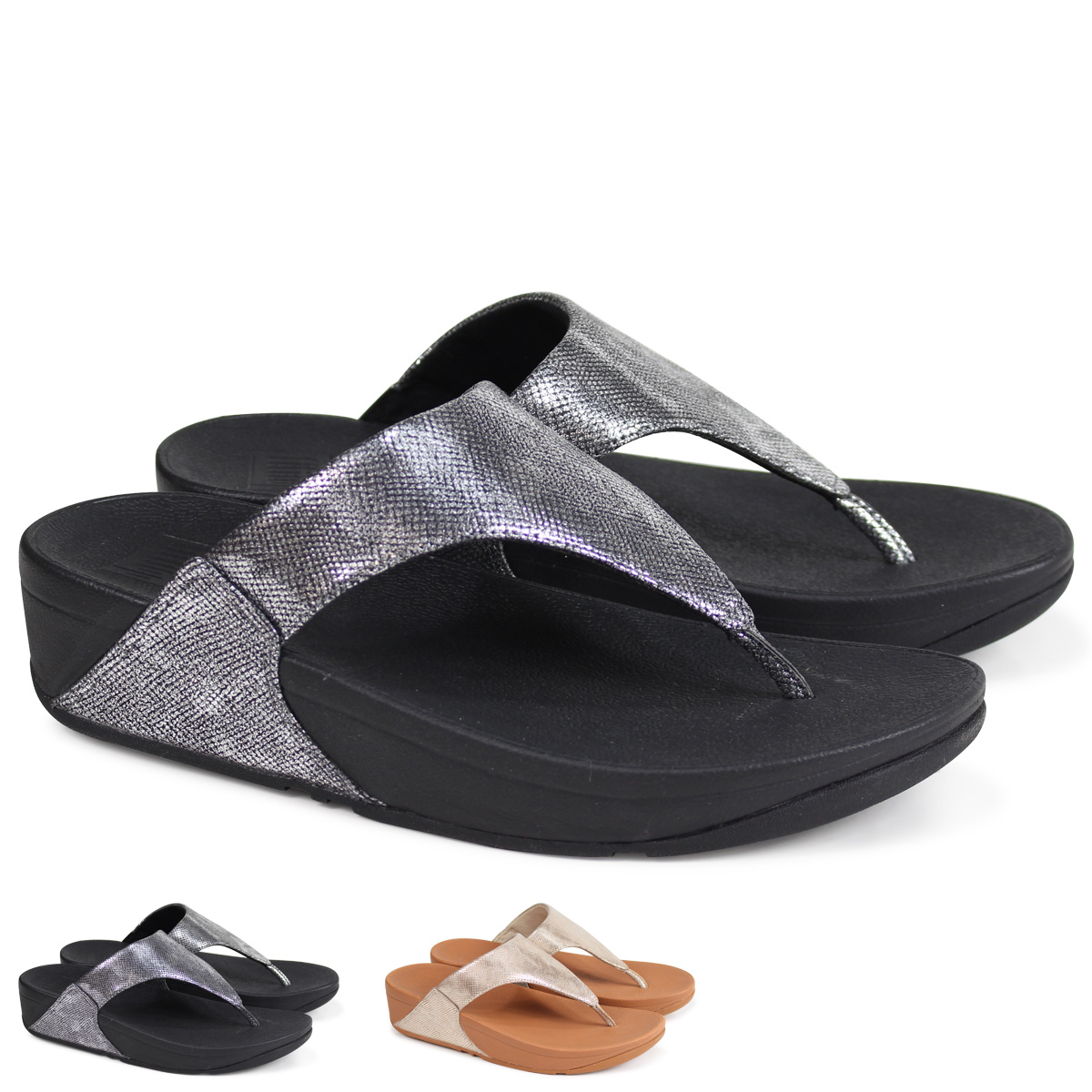 baa4231663b Whats up Sports  FitFlop LULU TOE-THONG SANDALS SHIMMER-PRINT ...