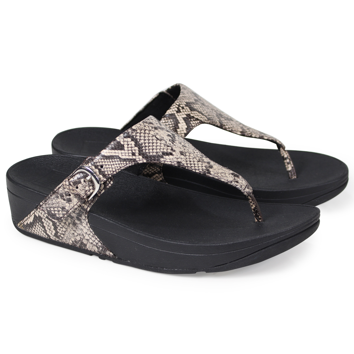 f2b9fcccbc51 Whats up Sports  FitFlop SKINNY TOE-THONG SANDALS SNAKE PRINT ...