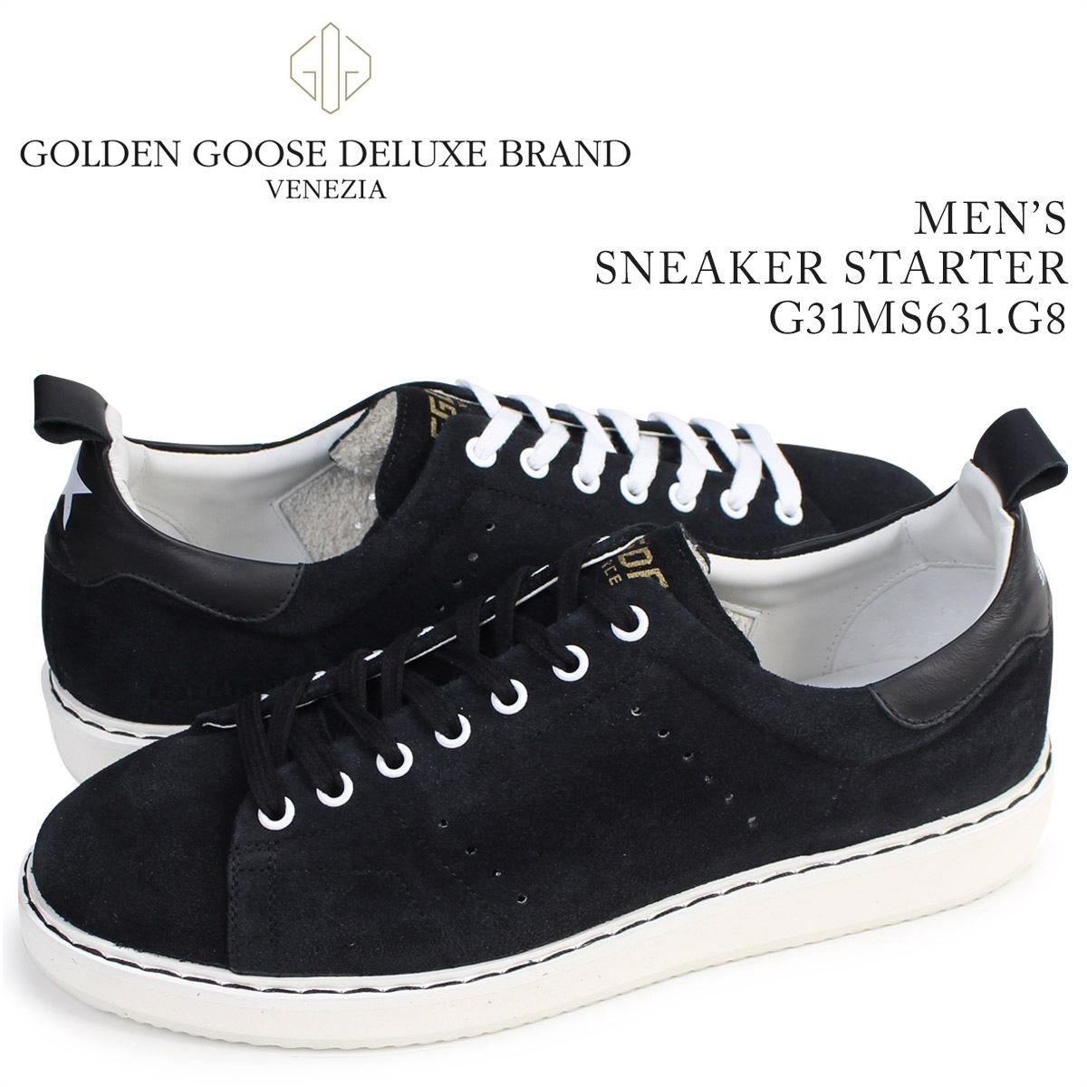 【送料無料】 【あす楽対応】 【24.5cm-28cm】 ゴールデングース Golden Goose スニーカー スターター ゴールデングース Golden Goose スニーカー メンズ スターター SNEAKERS SUPERSTAR イタリア製 G31MS631 G8 靴 ブラック