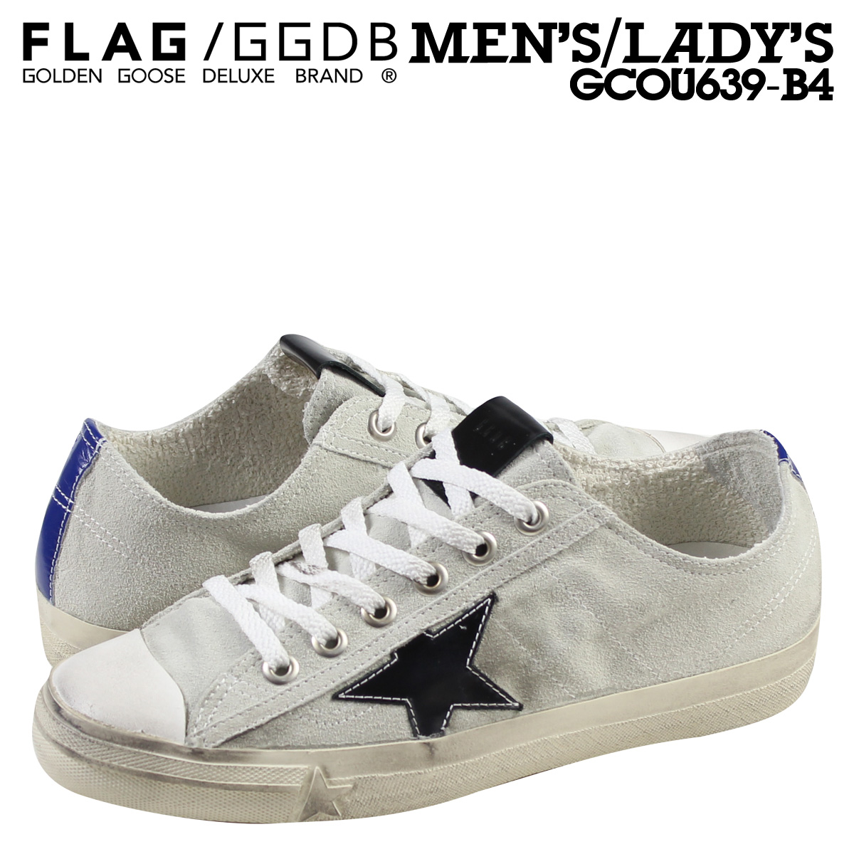 5b8a68d4e79d Golden Goose this sneaker V-STAR 2 GCOU639 B4 men s women s shoes made in  Italy white