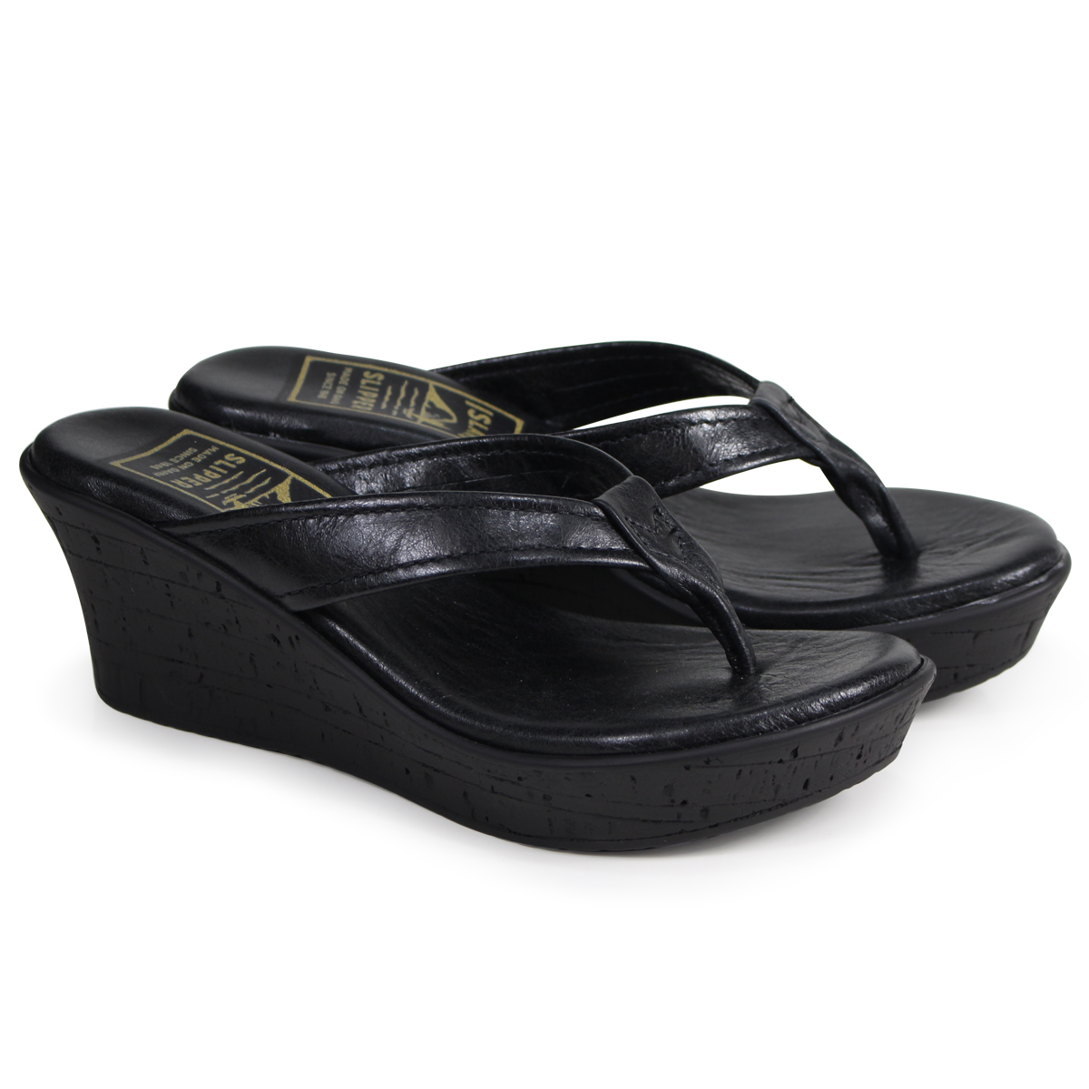 af3294776 ISLAND SLIPPER ALL LEATHER THONG island slippers Lady's sandals wedge  sandals suede black BP910 [4 ...