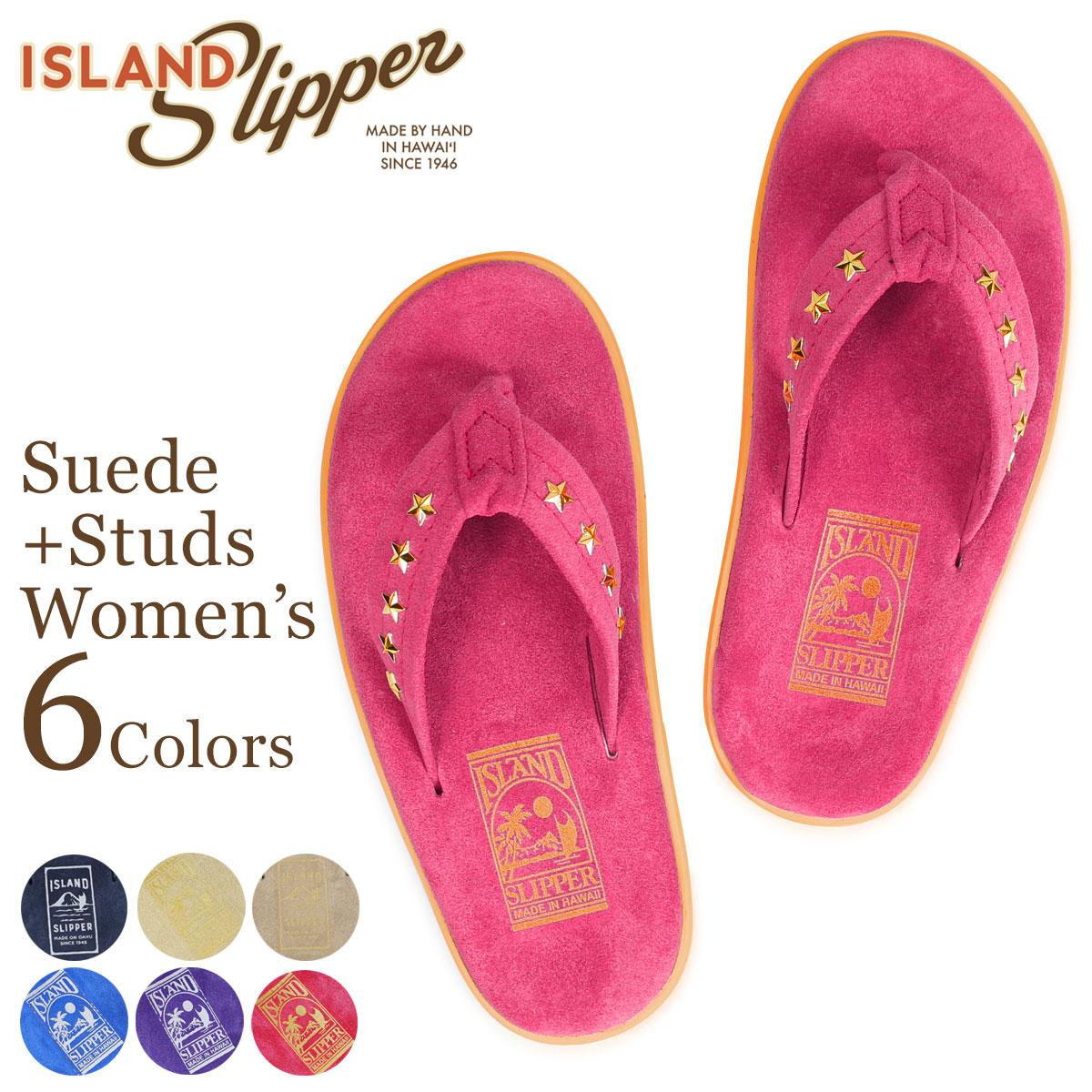 ISLAND SLIPPER SUEDE STUDS アイランドスリッパ サンダル トングサンダル レディース スエード スタッズ PT203 STD18 [4/5 追加入荷]
