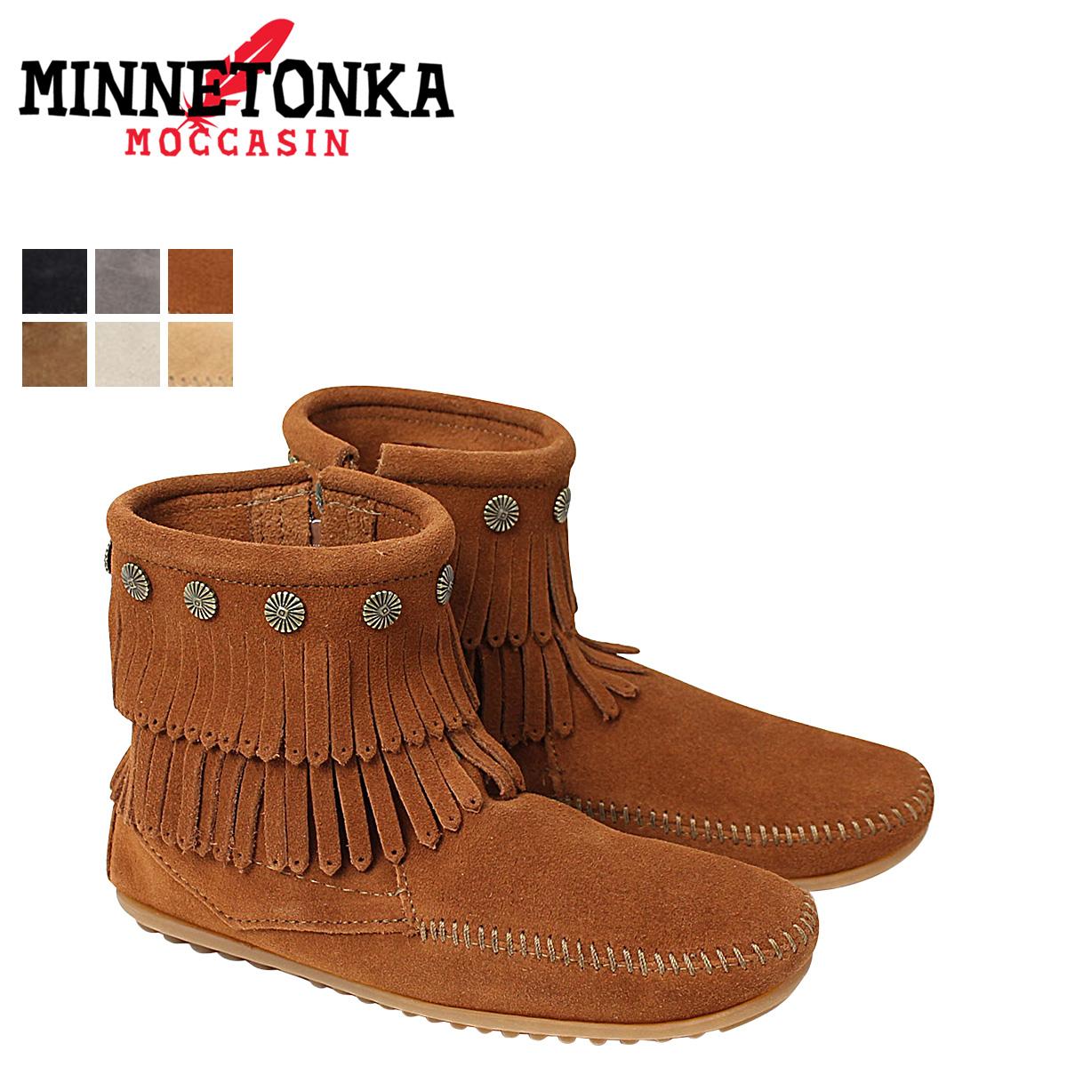 Minnetonka Double Fringe Side Zip (Women's) CNg15Cn