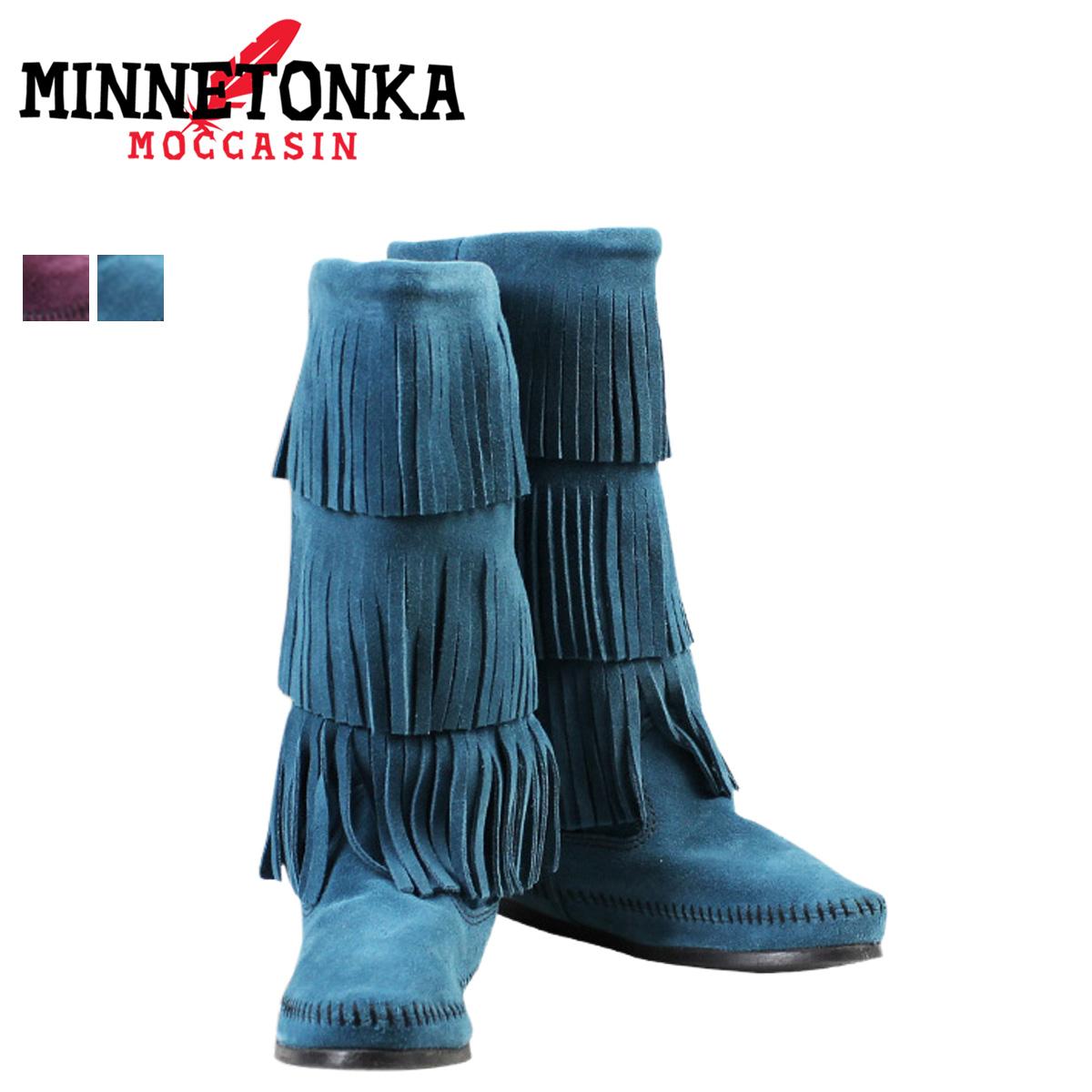 Minnetonka Calf Hi 3-Layer Fringe Boot R1q9um