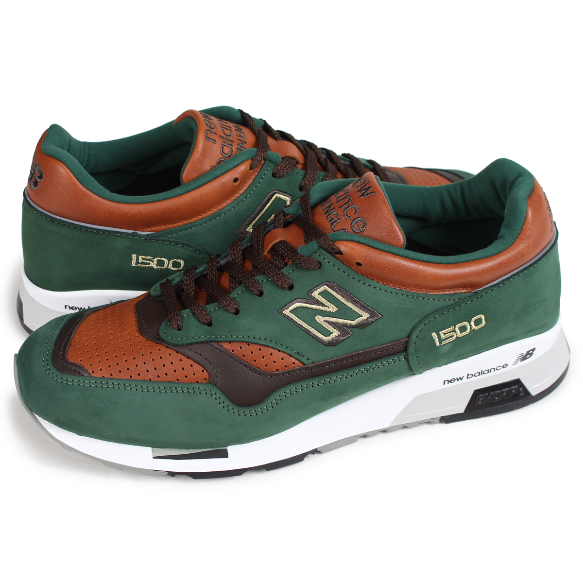 new balance M1500GT New Balance 1500 men's sneakers D Wise MADE IN UK green