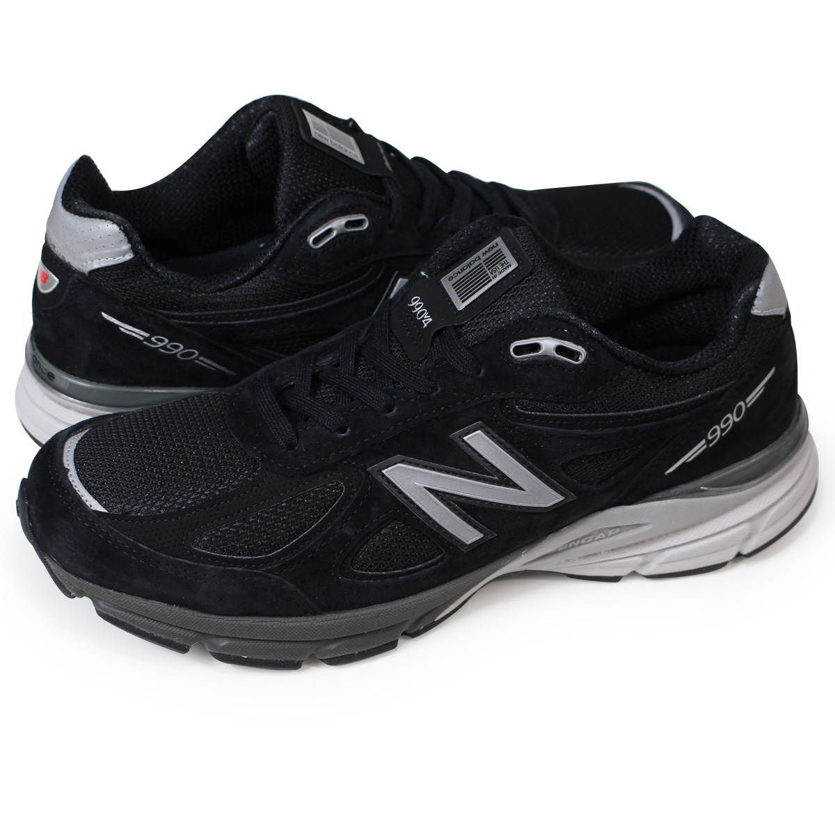 buy popular 3bb88 2f770 new balance M990BK4 990 men's New Balance sneakers D Wise MADE IN USA shoes  black