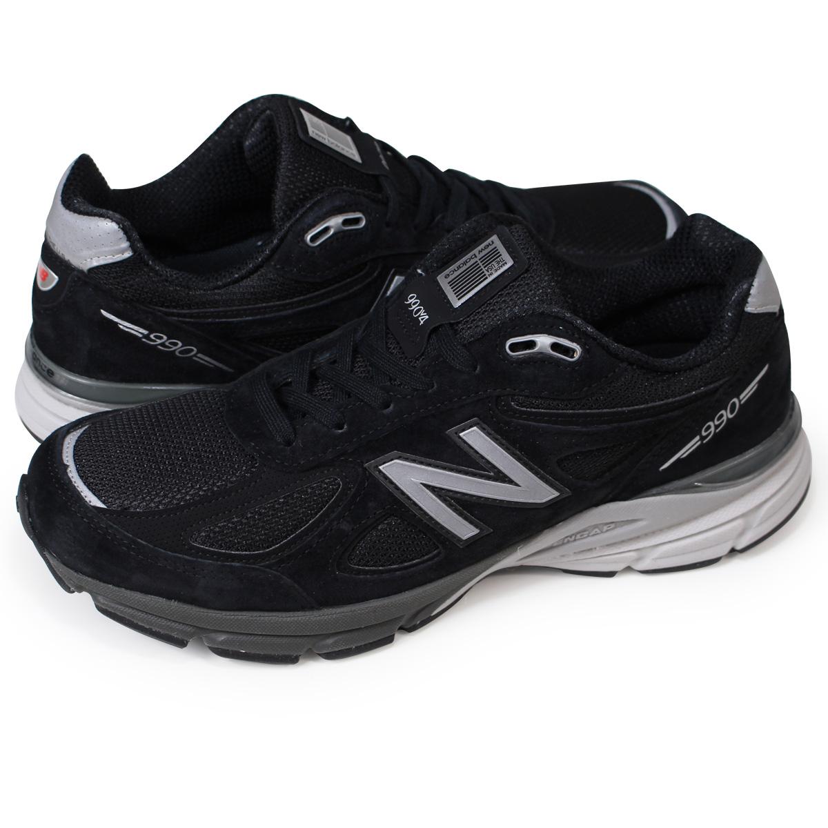 Whats up Sports   Rakuten Global Market: New Balance 990 men's new balance sneakers M990BK4 D Wise MADE IN USA shoes black [7/19 Shinnyu load]