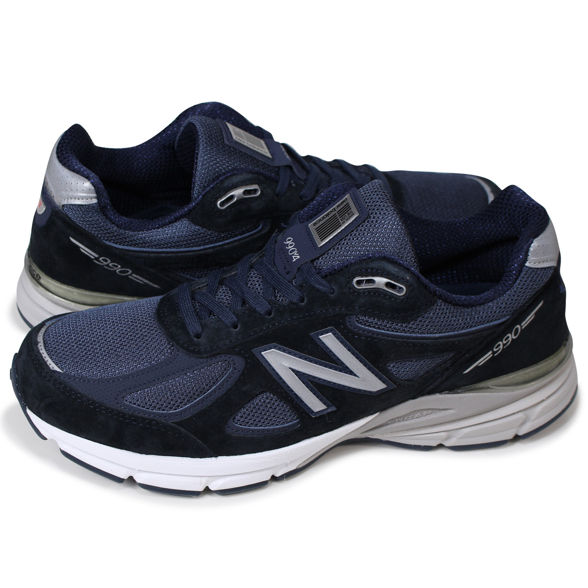 size 40 0c09a 83d4a new balance M990NV4 990 men's New Balance sneakers D Wise shoes navy MADE  IN USA
