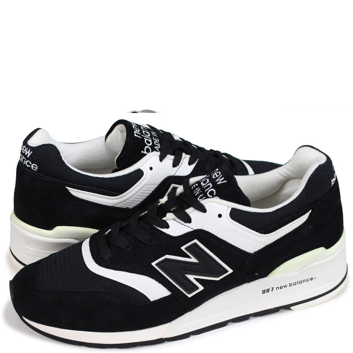 competitive price fb9bf 6317f new balance M997BBK New Balance 997 men's lady's sneakers D Wise MADE IN  USA black [the 8/16 additional arrival]