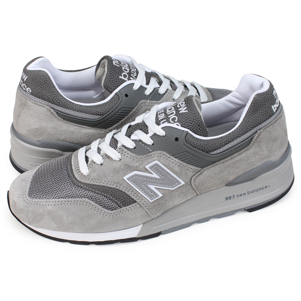 d09c54fd1d6 new balance M997GY 뉴발란스 997 스니커 맨즈 D와이즈 MADE IN USA 그레이[5 ...