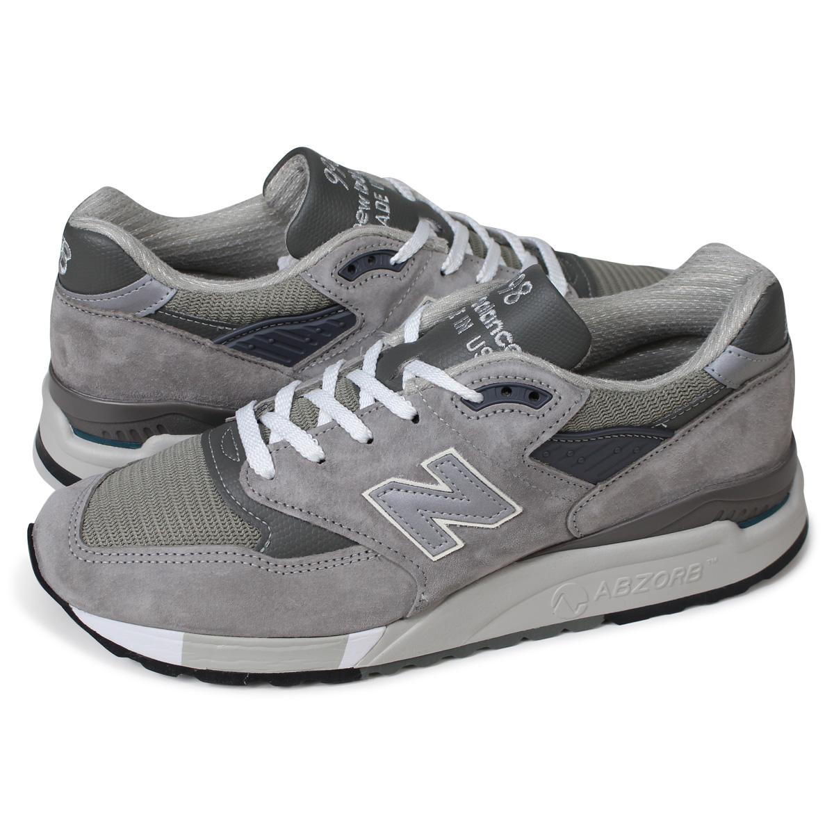 new balance M998 GY ニューバランス スニーカー MADE IN USA Dワイズ メンズ 靴 グレー