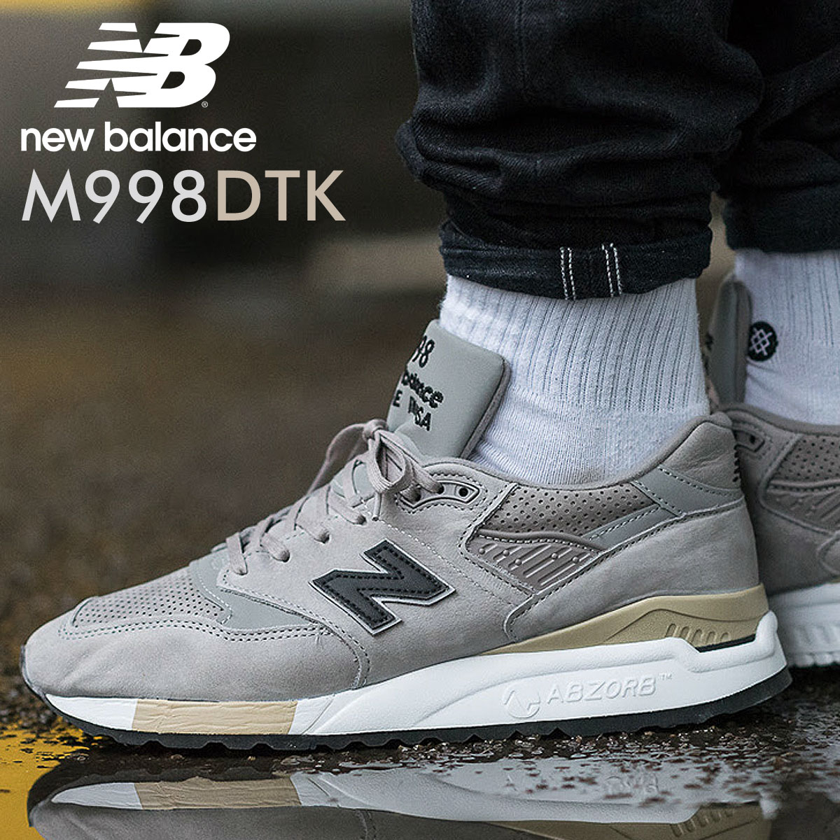 the latest 62adc c8acc New Balance 998 men's new balance sneakers M998DTK D Wise shoes gray