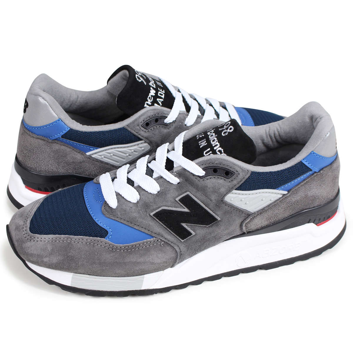 check out f4009 b5525 new balance M998NF New Balance 998 men's sneakers D Wise MADE IN USA gray  [load planned Shinnyu load in reservation product 9/6 containing]