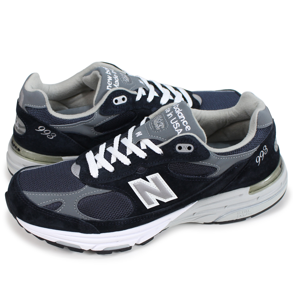 best sneakers a1bd4 7c95e new balance MR993NV New Balance 993 men's sneakers D Wise MADE IN USA navy