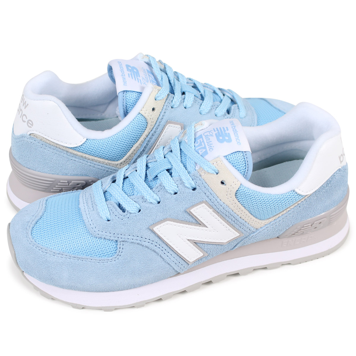 promo code 9770d 13b66 new balance WL574ESB New Balance 574 Lady's sneakers B Wise blue