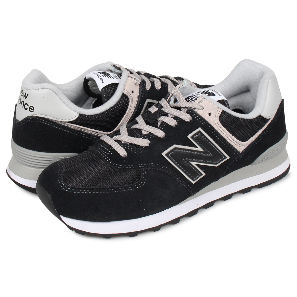 quality design 56f48 3eb05 new balance ML574EGK New Balance 574 sneakers men D Wise black black [8/20  Shinnyu load]