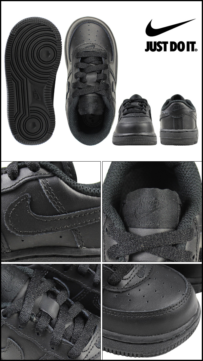 Nike NIKE air force 1 baby sneakers AIR FORCE 1 LOW TD 314,194 009 black [the 1017 additional arrival]