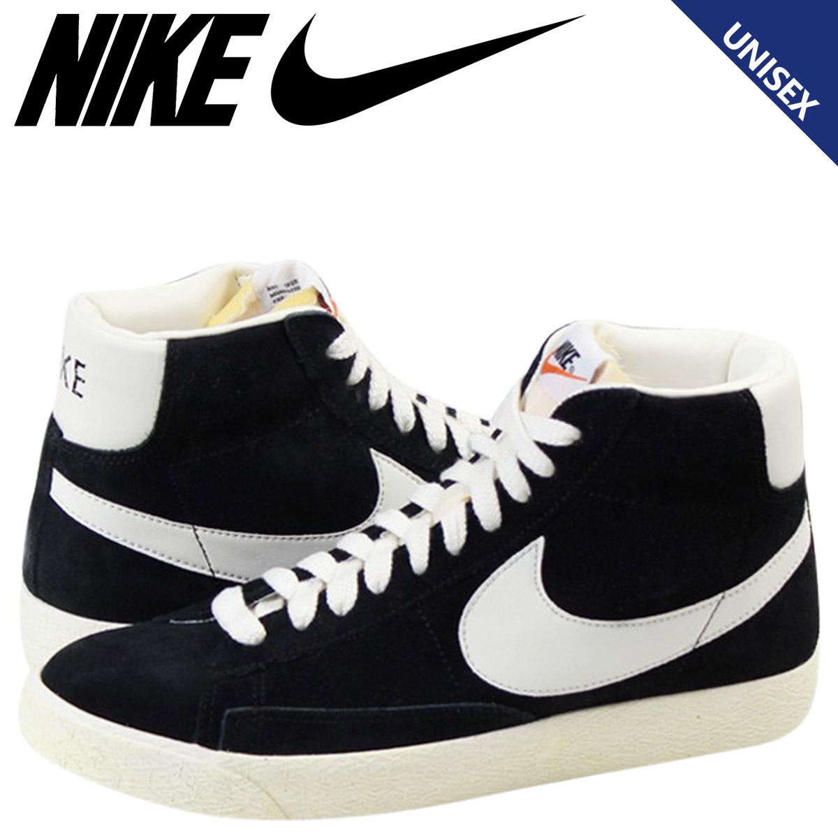 NIKE Nike Blazer sneakers BLAZER HI VINTAGE Blazer Hi 375722-001 men's women's  shoes black