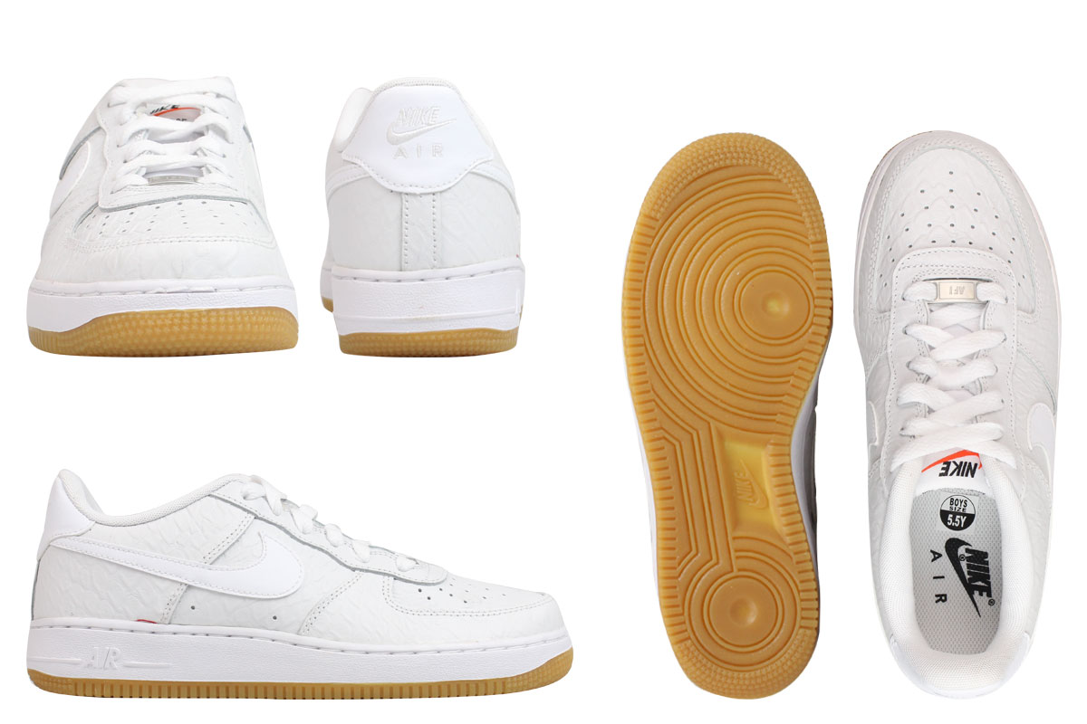 NIKE Nike air force sneakers Lady's AIR FORCE 1 LOW GS air force 1 low 596,728 180 shoes white