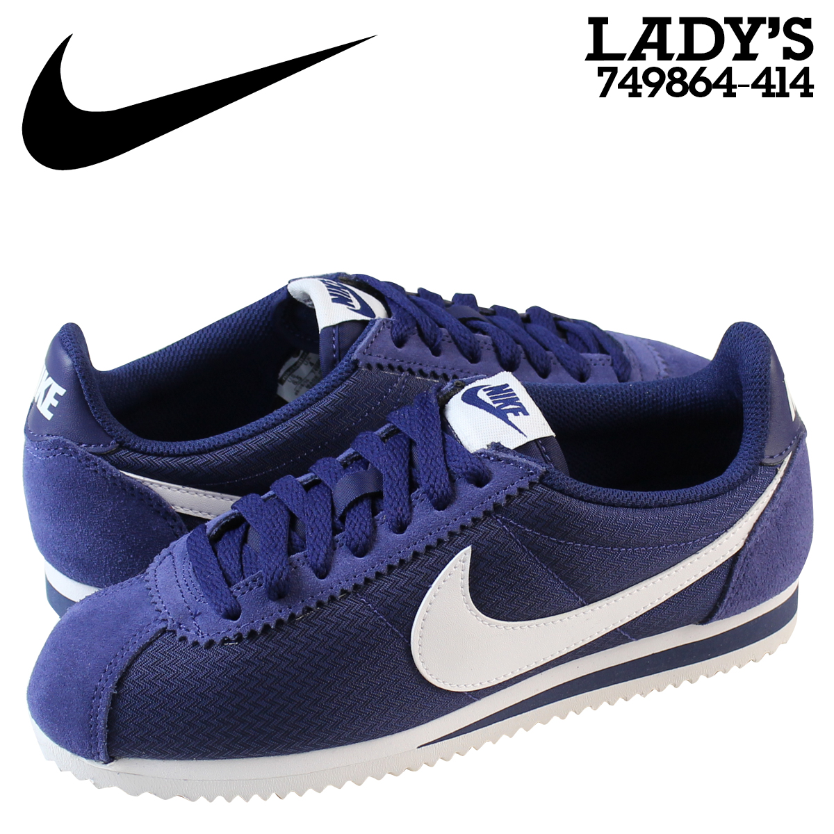 40a273f99f10 Whats up Sports  NIKE Nike classic Cortez sneakers Womens WMNS CLASSIC  CORTEZ NYLON 749864-414 shoes blue