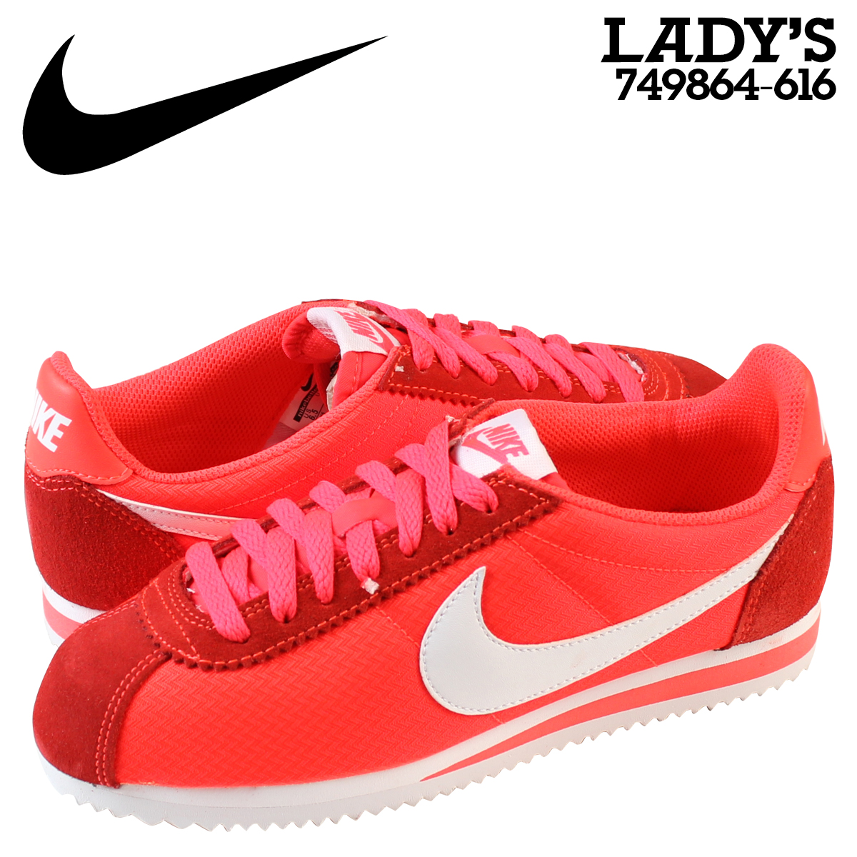 Whats up Sports | Rakuten Global Market: NIKE Nike classic Cortez sneakers  Womens WMNS CLASSIC CORTEZ NYLON 749864-616 Crimson shoes Red