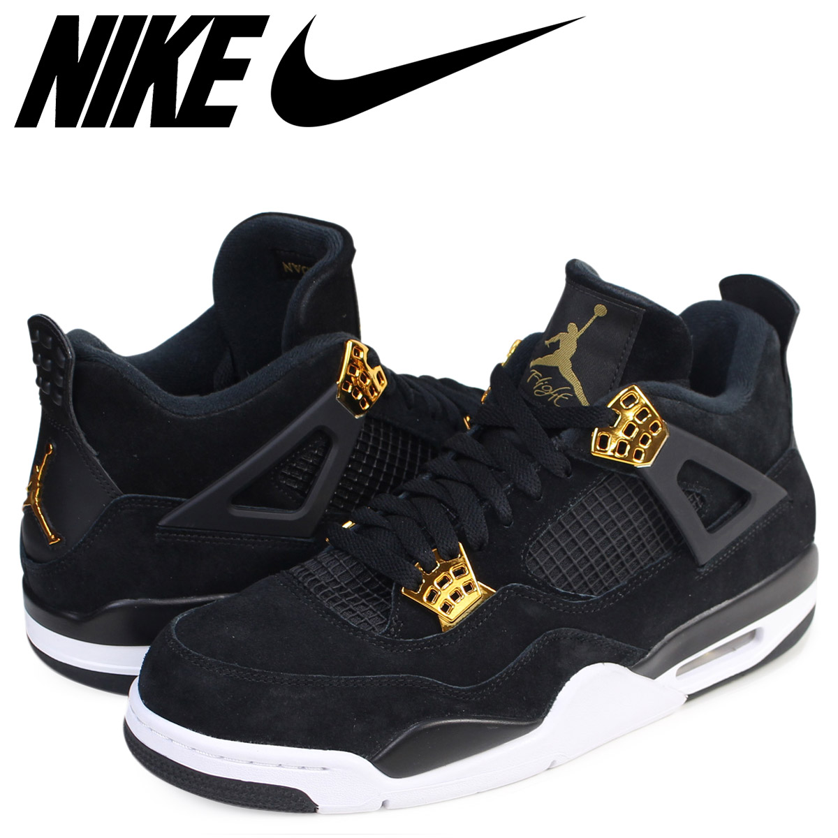 low priced 1aa0c c8bb3 Nike NIKE Air Jordan 4 nostalgic sneakers AIR JORDAN 4 RETRO ROYALTY 308,497 -032 men s shoes black  8 2 Shinnyu load