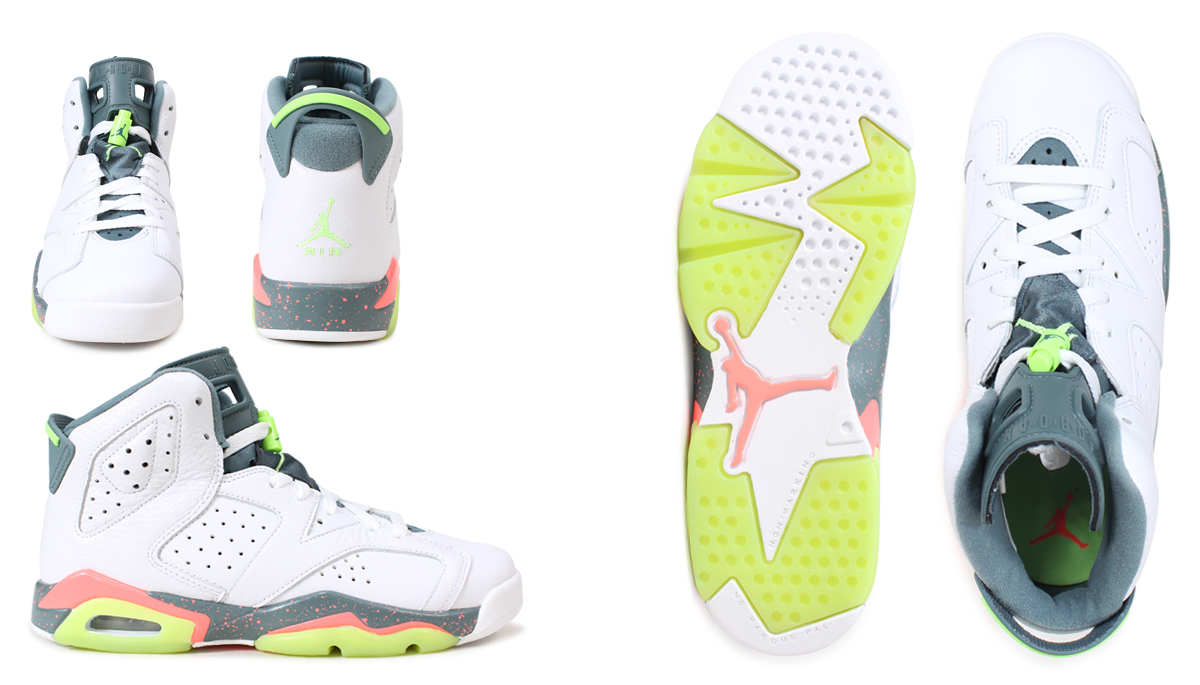 pretty nice e61a4 11418 Nike NIKE Air Jordan 6 nostalgic lady s sneakers AIR JORDAN 6 RETRO BG  384,665-114 white  load planned Shinnyu load in reservation product 3 6  containing