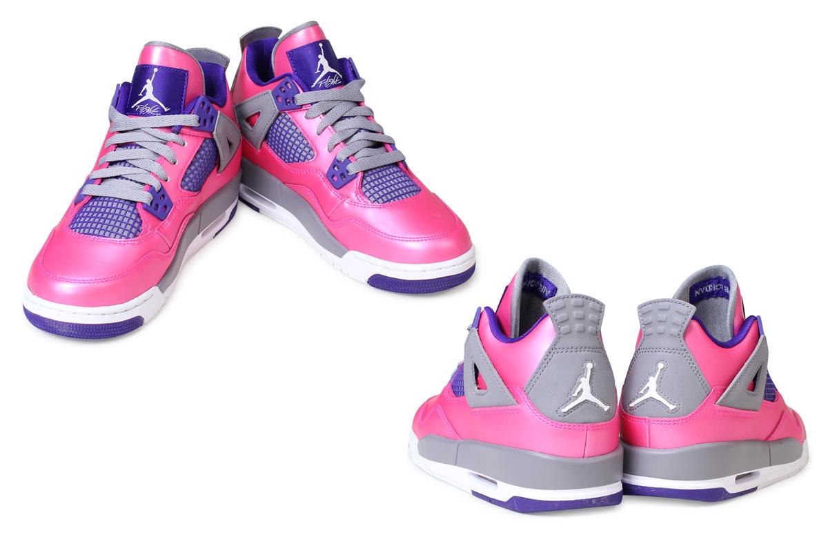 0baeed38ac70e7 NIKE Nike Air Jordan sneakers Womens AIR JORDAN 4 RETRO GS Air Jordan 4  retro 487724 - 607 shoes pink