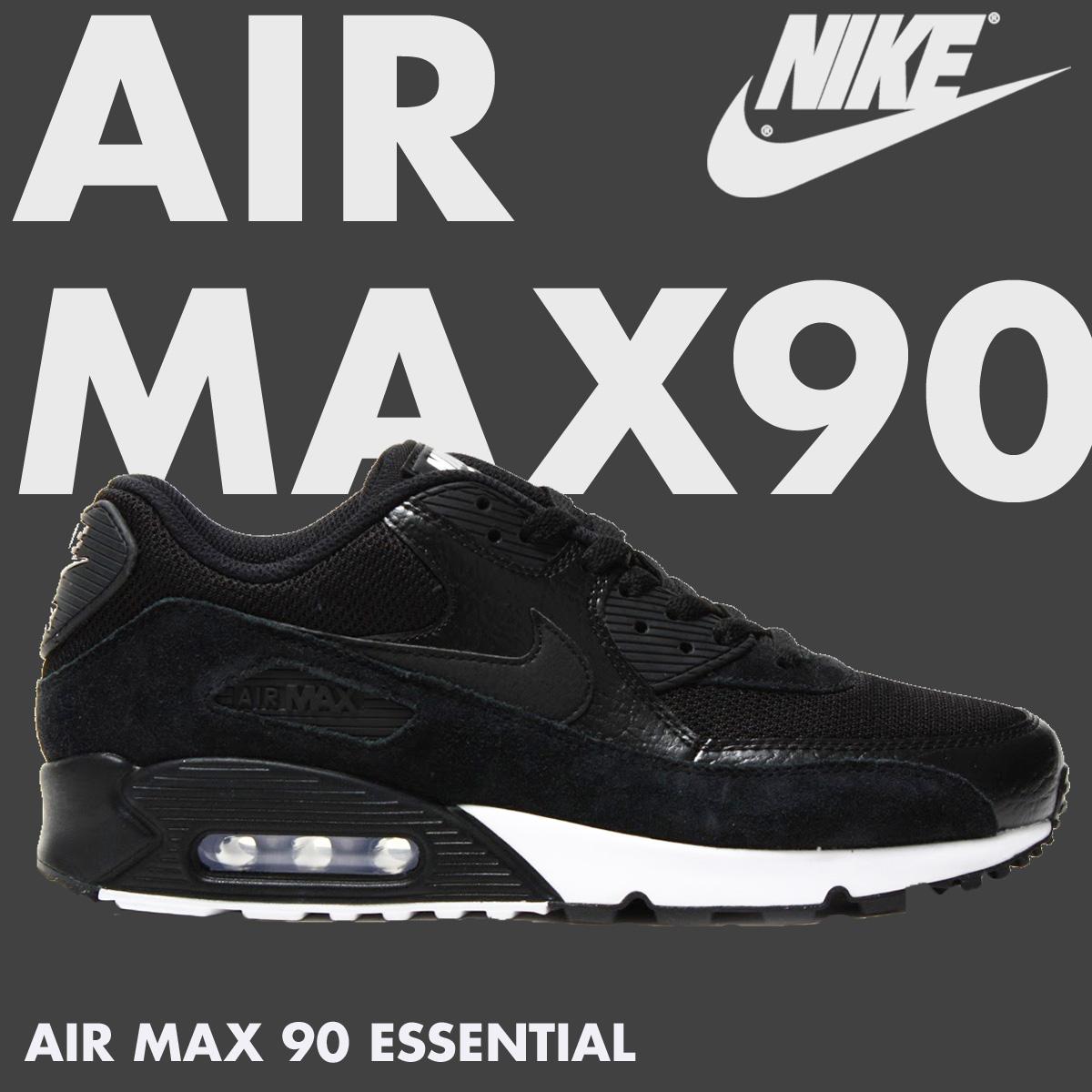 quality design b9556 219fd Nike NIKE Air Max 90 men's sneakers AIR MAX 90 ESSENTIAL 537,384-077 shoes  black [6/28 Shinnyu load]