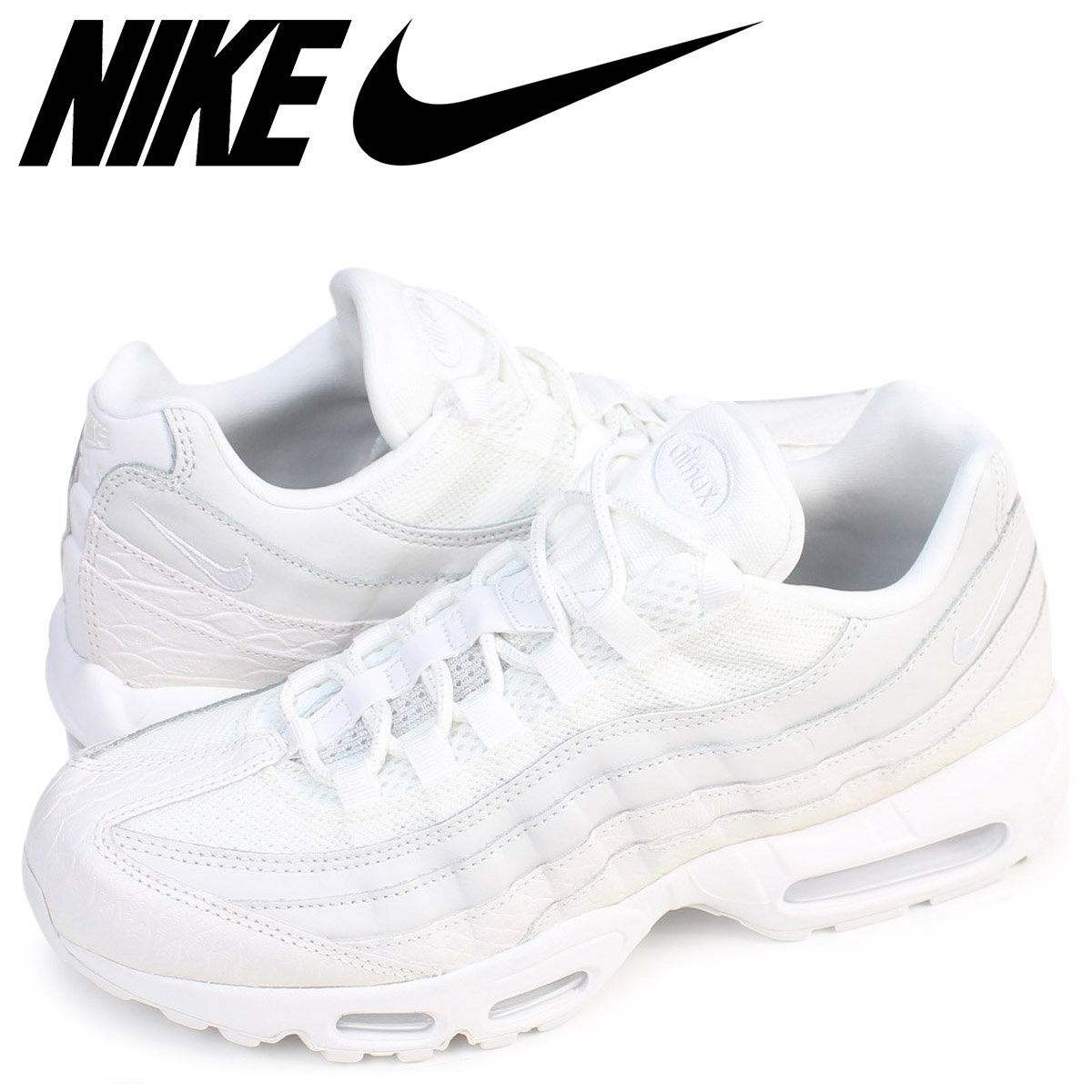 on sale c8d4e 90d88 Nike NIKE Air Max 95 sneakers AIR MAX 95 PREMIUM 538,416-100 men s shoes  white ...