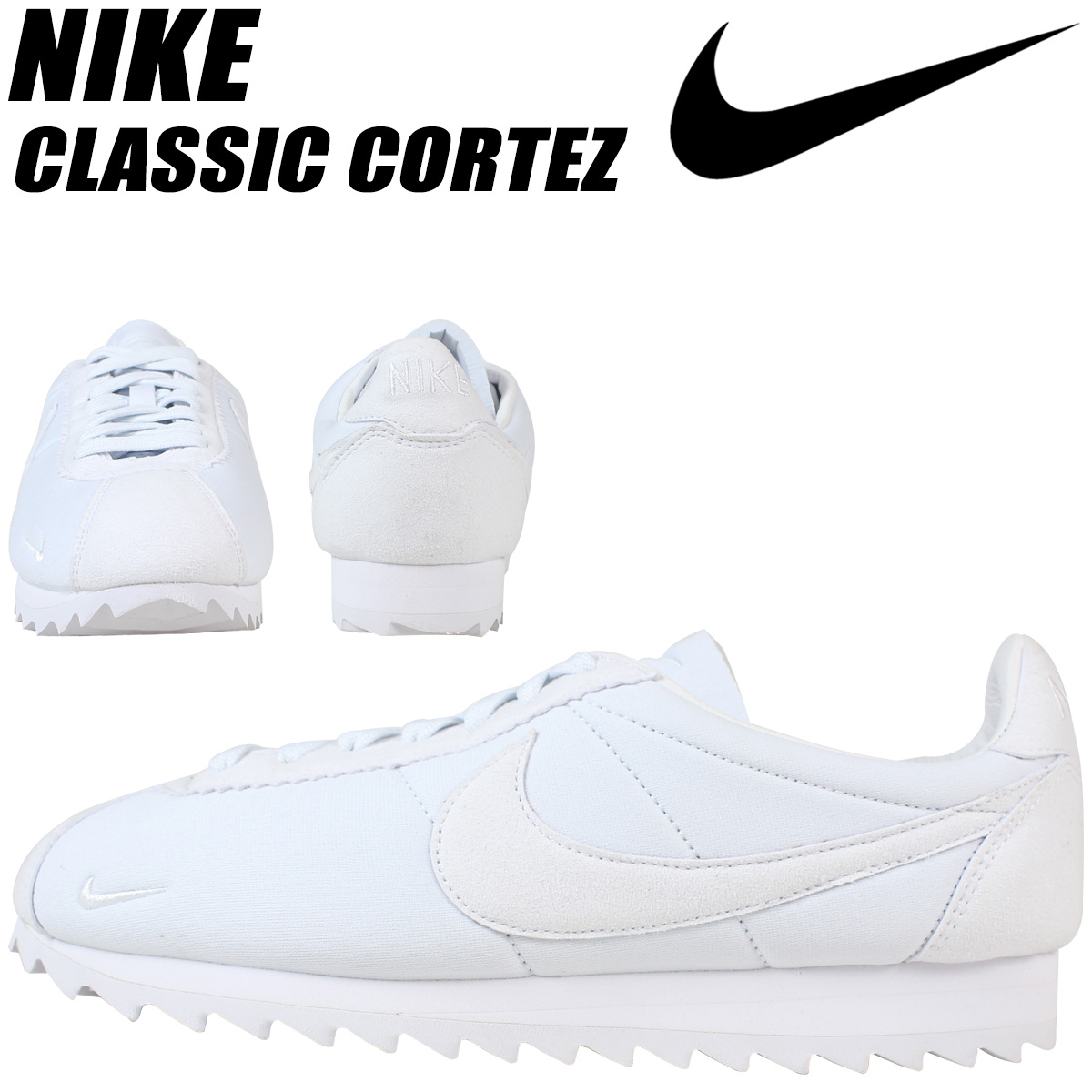 check out 5646a 5eae6 NIKE Nike classic Cortez sneaker CLASSIC CORTEZ SHARK LOW 810135-110 men's  shoes white