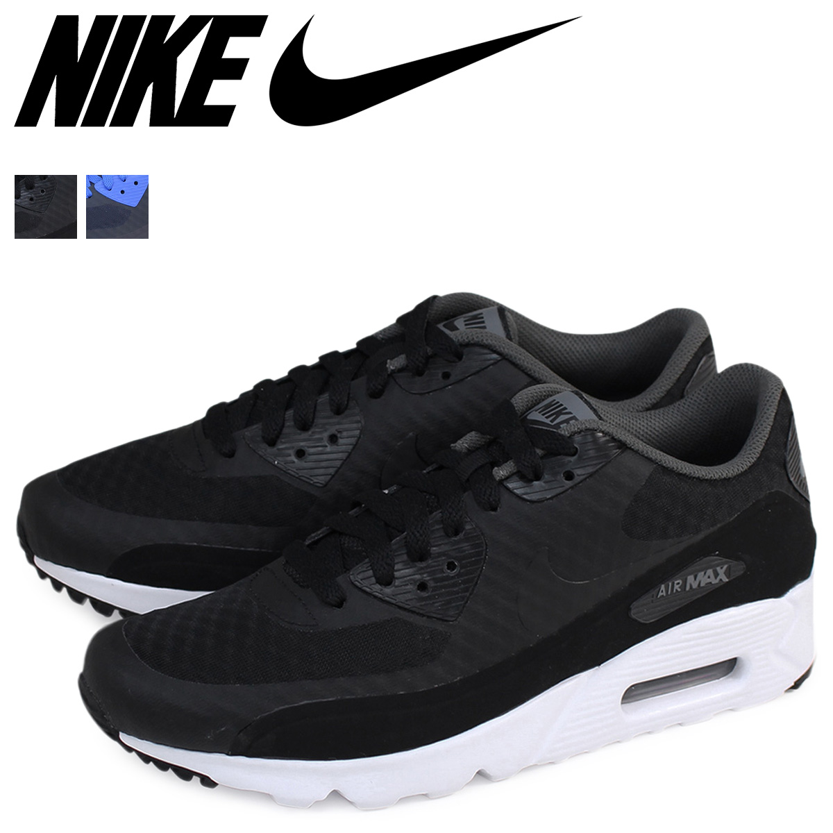 Mens Nike Air Max 90 Ultra Essential Running Shoes Dark Grey White Black 819474 013 819474 013