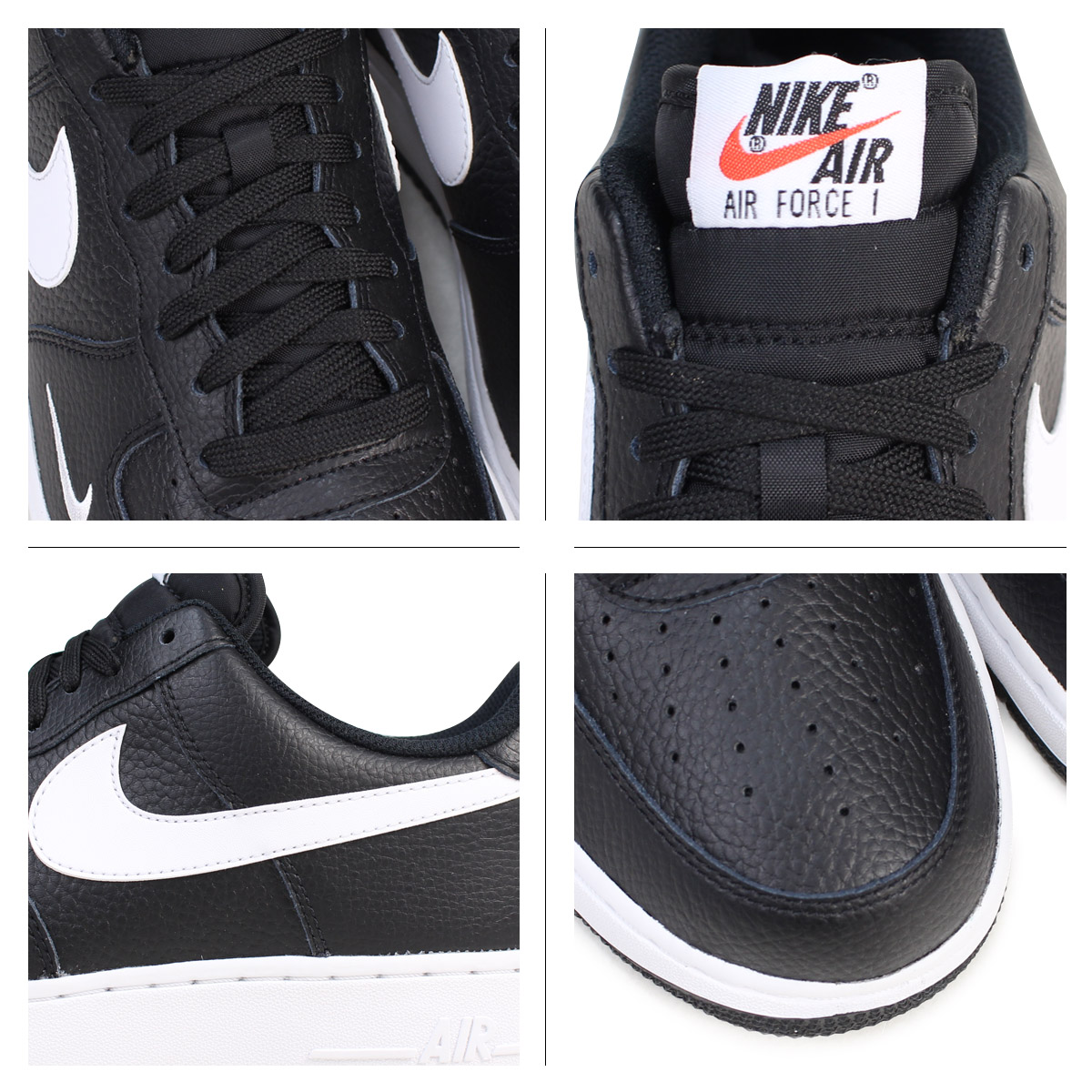 NIKE Nike air force 1 sneakers AIR FORCE 1 LOW 07 low 820,266 021 men's shoes black black