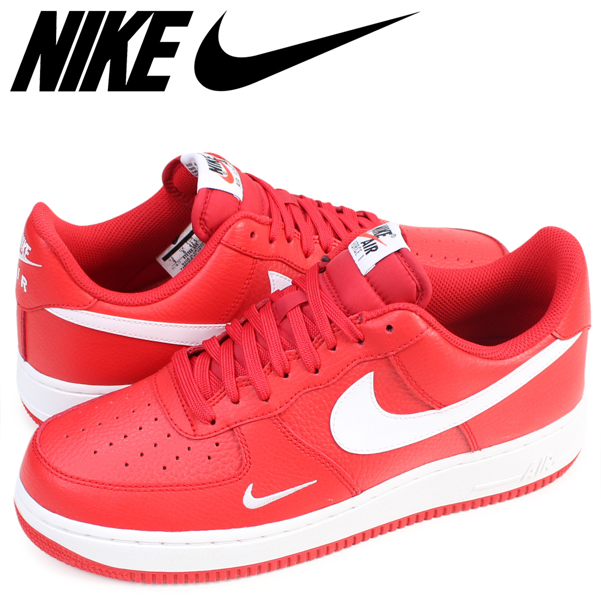 Nike NIKE air force 1 sneakers AIR FORCE 1 LOW 07 men's low 820,266-606  shoes red [the 6/15 additional arrival]