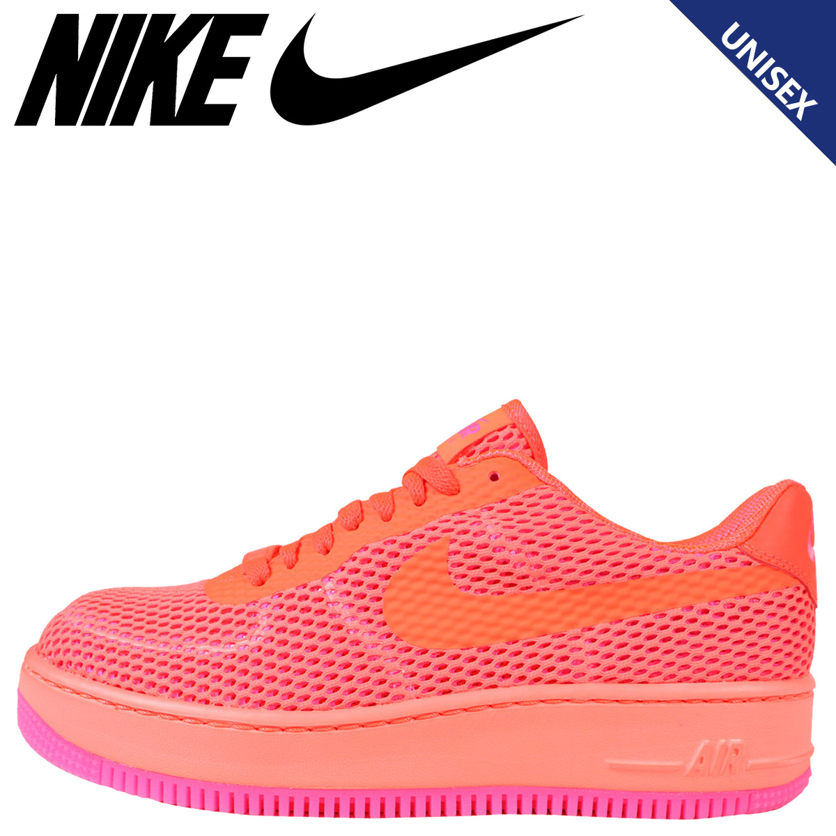 quality design 92fed bd5d6 NIKE Nike Air Force sneakers Womens WMNS AIR FORCE 1 UP STEP BR air force 1  833123-800 mens shoes Orange